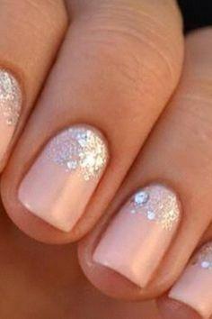 Peachy glitter