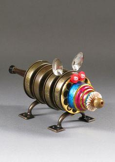 ROBOT SCULPTURE  Metal sculpture art Junk by CastOfCharacters23, $95.00