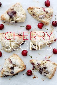 Make-Ahead Cherry Scones #baking #holiday #brunch #breakfast
