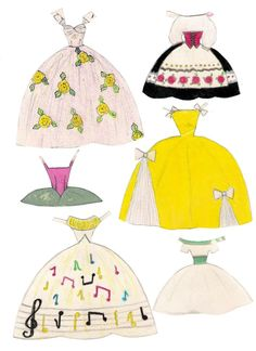 Vibs paper doll, handmade (5 of 5)