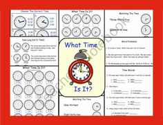 Telling Time Printable Worksheets product from Teaching-The-Smart-Way on TeachersNotebook.com