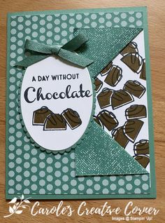 Chocolate Card, Food Cards, Fabric Cards, Coffee Cards, Stampin Up Catalog, Fancy Fold Cards, Friendship Cards, Stamping Up Cards, Card Maker