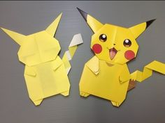 Daily Origami: 841 - Pokemon Pikachu