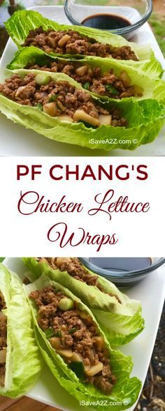 This recipe has become extremely POPULAR in my house!  PF Chang's Chicken Lettuce Wraps Copycat Recipe - iSaveA2Z.com