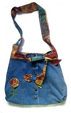 Unik handgjord väska i jeans