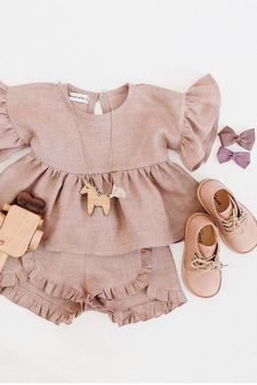 Baby fashion - Handmade Heirlooms at Dannie and Lilou – Baby fashion Fashion Kids, Baby Girl Fashion, Fashion Games, Toddler Fashion, Fashion Clothes, Womens Fashion, Kids Outfits Girls, Baby Outfits, Toddler Outfits