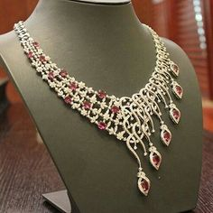 Gorgeous Ruby and #diamonds #necklace by @a.alfardanjewellery