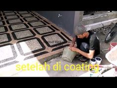 Cement rendering with small stones on brick walls - YouTube Cement Render, Brick Walls, Epoxy, Garage, Stones, Flooring, Youtube, House, Ideas