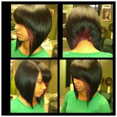 If only I could do weaves!!!!! I would rock this cut!!!