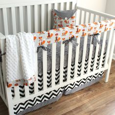 Going bumper-free? The crib rail bedding is a great option, not only will it protect your crib from the little bites but its a safe alternative Baby Bedding Sets, Baby Comforter, Crib Sets, Crib Bedding, Baby Bedroom, Baby Boy Rooms, Baby Boy Nurseries, Crib Rail, Nursery Themes