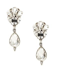 Multi-Shaped Crystal Drop Earrings by Ben-Amun at Gilt