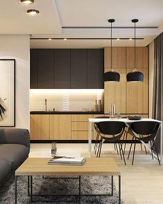 Scandinavian Kitchen Design Modern Decor – Home Decoration and Improvement Grey Kitchen Designs, Modern Kitchen Design, Interior Design Kitchen, Scandinavian Kitchen Tiles, Scandinavian Design, Kitchen Dinning, Kitchen Decor, Open Kitchen, Kitchen Cabinet Colors