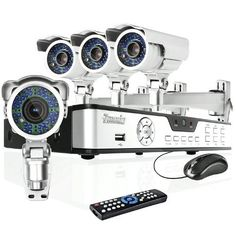 Zmodo 4CH H.264 DVR Security Surveillance Camera System with 4 Sony CCD Outdoor Night Vision IR Audio Security Camera With 1TB Hard Drive by Zmodo. $369.99. Overview The CCTV DVR IR weatherproof camera system includes a 4 CH H.264 standalone DVR and four outdoor IR weatherproof surveillance cameras providing everything you need to have your surveillance system up and running in your home or business quickly and easily.   DVR Features  * Embedded Linux OS * H.264 Hardware Compress...