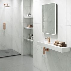 Buy the Vellamo Reveal Mono Basin Mixer with Free Clicker Waste - Rose Gold from Tap Warehouse and add some 'wow factor' to your home. The Vellamo rose gold range is brand new and comes with a lifetime guarantee. Marble Bathroom Accessories, Gold Bathroom, Bathroom Ideas, Marble Countertops Bathroom, Marble Look Tile, Design Trends 2018, Basin Mixer, Bathtub, Rose Gold