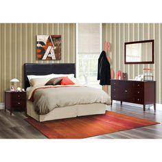 Zurich Panel 4 Piece Bedroom Set Bed Configuration: Headboard Only - http://delanico.com/bedroom-sets/zurich-panel-4-piece-bedroom-set-bed-configuration-headboard-only-589412983/