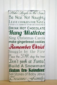 Christmas Typography Word Art ~ I absolutely <3 this! You can buy it here or if you are creative you can make it yourself!  :)