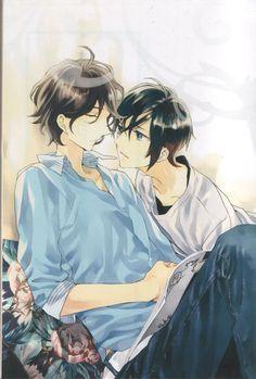 Artwork by Takarai Rihito - If you can identify this, please leave a comment. Manga Art, Manga Anime, Takarai Rihito, Shounen Ai, Kokoro, Image Boards, Manhwa, Cool Pictures, Novels