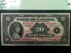 Queen Elizabeth as a young girl on a 1935 Bank of Canada Twenty Dollar Bank Note. see? --life goes on! -- theirs very old money has queens bank but thats quick example! Canadian Coins, Canadian History, Money Paper, Coins Worth Money, Coin Worth, Show Me The Money, Old Money, Canada, Foreign Exchange