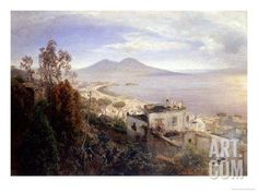 The Bay of Naples Giclee Print by Oswald Achenbach at Art.com