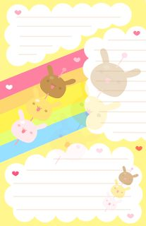 La Casita de Caro: Papel Carta Kawaii!!