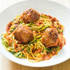 Recipes for spaghetti and meatballs are fraught with nonpaleo ingredients: pasta, canned tomato sauce, bread, milk, and cheese. To devise a paleo-friendly version of this dish, we needed to successfully replace the wheat pasta, bind the meatballs, and make a hearty sauce out of fresh tomatoes.