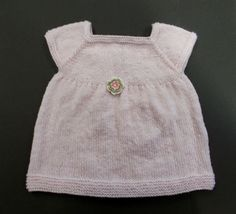 marianna's lazy daisy days: Starting Out Knitted Baby Dress