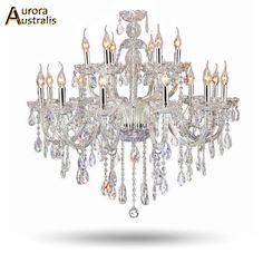 304.09$  Watch now - http://alihjj.worldwells.pw/go.php?t=32790343847 - Luxus Kristall Wohnzimmer Lustre Sala De Cristal Moderne 18 Arm Leuchte Hochzeit Dekoration Art Deco Lighting Chandelier 304.09$