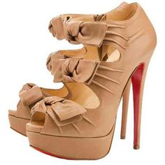 ff8bbc18d511 Christian Louboutin Shoes Madame Butterfly Booty Pumps Beige Butterfly  Heels