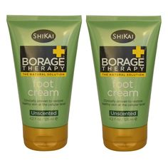 ShiKai All Natural Borage Dry Skin Therapy Foot Lotion Cream For Dry Feet, Calluses and Cracked Heels With Organic Aloe Vera, Jojoba, Vitamin E, Omega-6 Fatty Acids and Shea Butter, 4.2 oz (Pack of 2) ** You can get more details by clicking on the image. (Note:Amazon affiliate link)