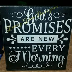 God's Promises sign 12 x 12