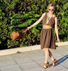 toffee brown dress