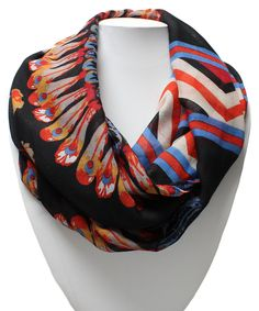Look at this Black Feather Infinity Scarf on #zulily today!