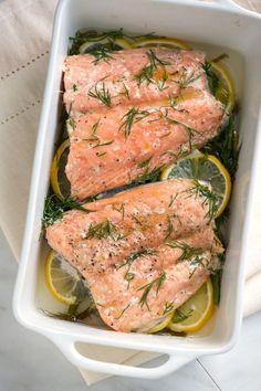Mom's Baked Salmon with Lemon and Dill From inspiredtaste.net | @inspiredtaste