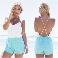 SALE ITEM OF THE WEEK: Scallop Rose Lace Romper