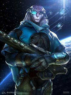 ArtStation - Jaal Lithograph - Mass Effect Andromeda, Ben Lo
