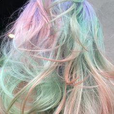 Sweet dreams! @lizhendren thanks for the #blowout and photo @edwardJoseph #pastelhair #dreamy #mermaidhair #mylittleponyhair #colorbyAura #paintedbyAura #Auracolorist