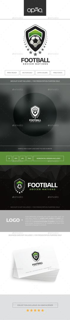 Football (Soccer) Logo — Transparent PNG #federation #event • Available here → https://graphicriver.net/item/football-soccer-logo/16666087?ref=pxcr