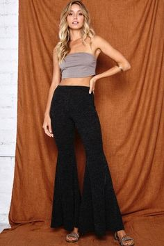 """Pinstripe Bell Bottoms 95% Rayon 5% Spandex 10"""" Rise 34"""" Inseam Wide Bell Bottom Flare Pull-On In Stock Wholesale Fashion, Wholesale Clothing, 90s Fashion, Fashion Trends, Flare Pants, Bell Bottoms, Vintage Outfits, Summer Dresses, Skirts"""