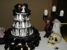 my cake! by Cindy Dellinger! Snow white and Paul Stanley Cake Topper!