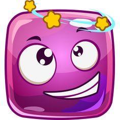 Seeing Stars Square Emoticon