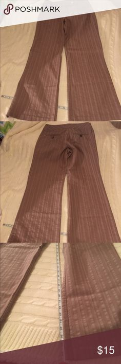Tan Striped Pants (Tan Striped) Studio Y Stretch Dress Pants. In great condition, other then I can't sew buttons on well, I can send you a couple of buttons to replace the one I tried to sew on. Lol  76% Cotton/ 21% Polyester/ 3% Spandex. Studio Y Pants Wide Leg