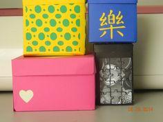 Boxes cut from Box It Up Cricut Cartridge