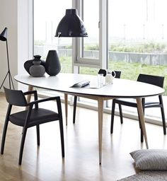 Extending oval laminate #table GM 9944 by Naver Collection | #design Nissen and Gehl