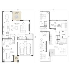 Explore over 60 single and double storey house plans. Each home design allows you to view facade options, minimum lot width, personalise your floorplan… Sims House Plans, House Layout Plans, Best House Plans, Dream House Plans, House Layouts, House Floor Plans, 5 Bedroom House Plans, Family House Plans, Double Storey House Plans