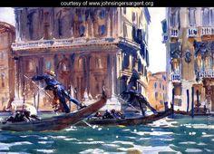 On the Canal] - John Singer Sargent - www.johnsingersargent.org