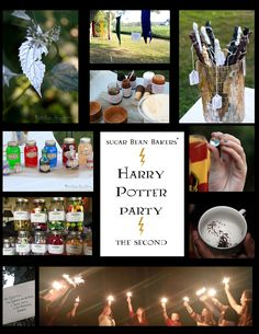 "Must see!! Incredible Harry Potter-themed party. Holy wow. @Tina Doshi : Sugar Bean Bakers really outdid herself. Some of these ideas are so clever, and so much fun. ""Harry Potter Party, the Second"""