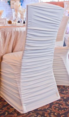 Chair Covers For Weddings Shropshire West Elm Chairs Uk 387 Best Wedding Images Ivory Ruched Spandex Gold Banquet