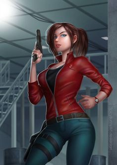 Claire Redfield by SpicyBunnyArt - Resident Evil - Game's Resident Evil Anime, Resident Evil Girl, Cyberpunk, Evil Games, Evil Art, Evil World, Video Games Girls, Female Fighter, Digital Art Girl