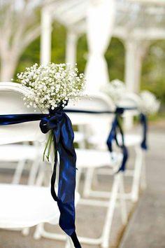 décoration de mariage  déco de mariage  mariage navy  mariage bleu marine style navy faire part mariage déco de chaise mariage allées mariage
