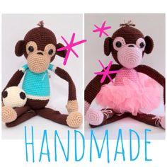 Schattige kleine handgemaakte aapjes @